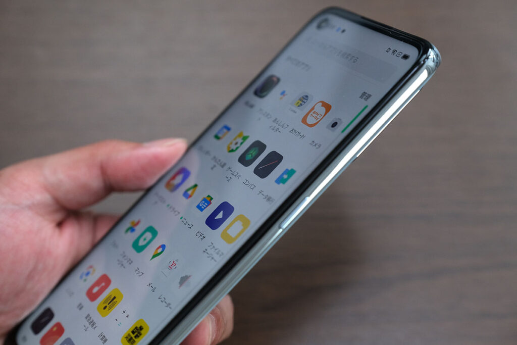 OPPO Reno 5A 画面の明るさ