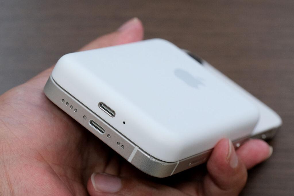 MagSafeバッテリーパックの充電コネクト