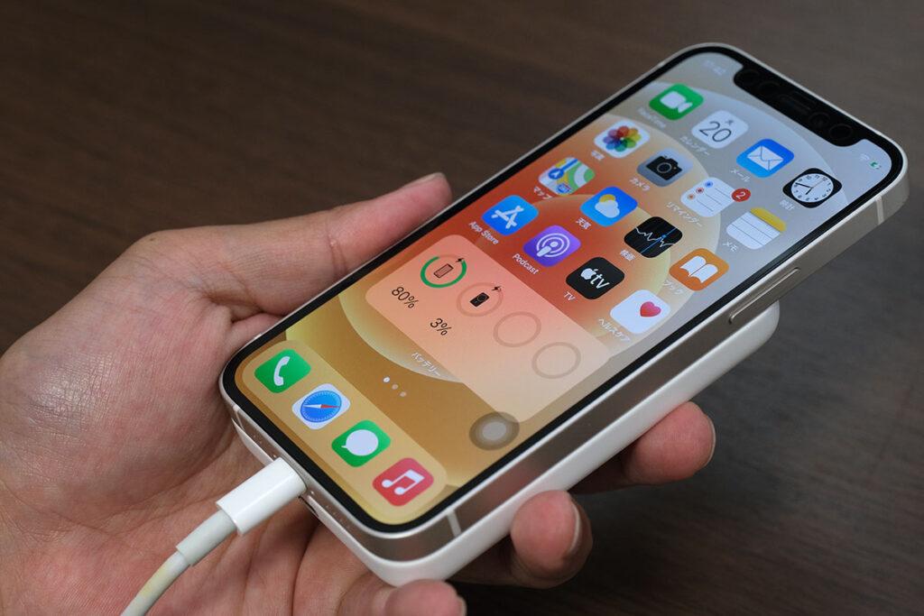 iPhone側からMagSafeバッテリーパックを充電