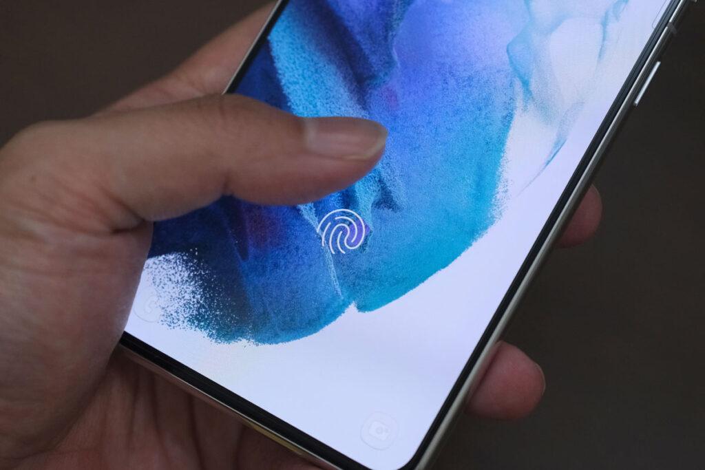 Androidの画面内指紋認証