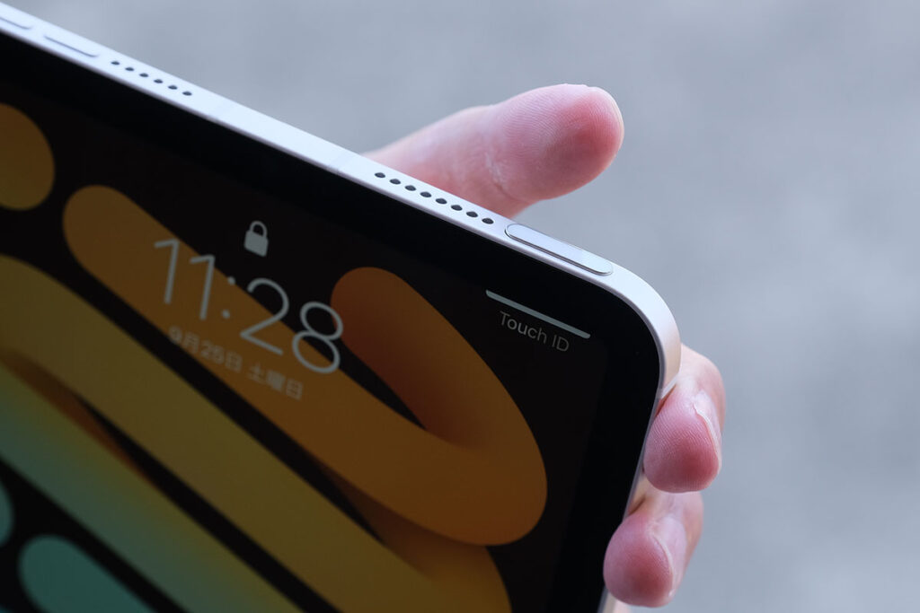 iPad mini 6の指紋認証センサー