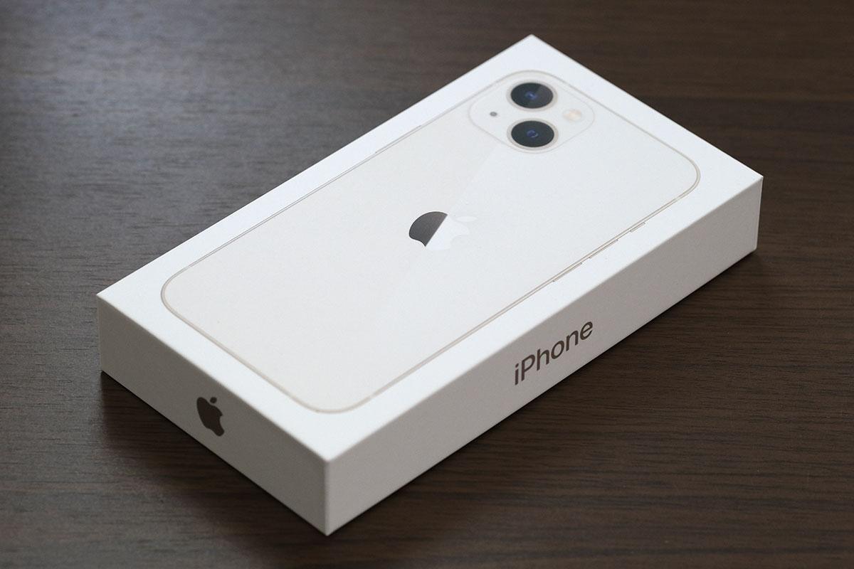 iPhone 13 パッケージデザイン