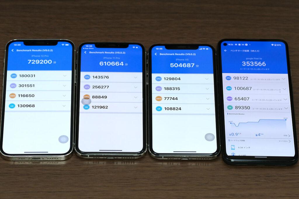 iPhone XS 性能比較
