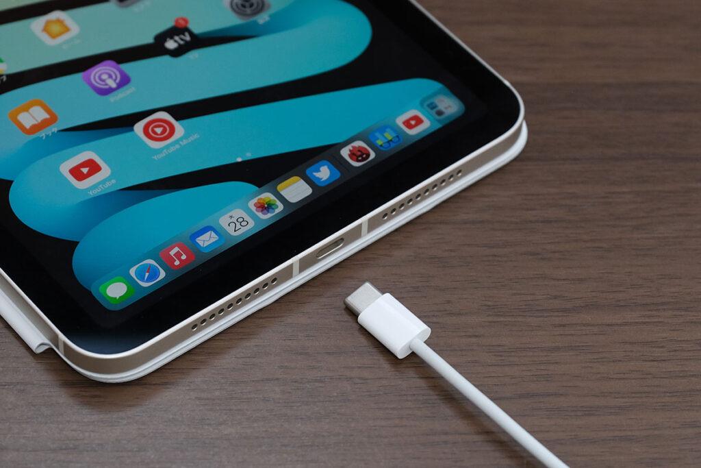 iPad mini(第6世代)USB-Cポートに対応