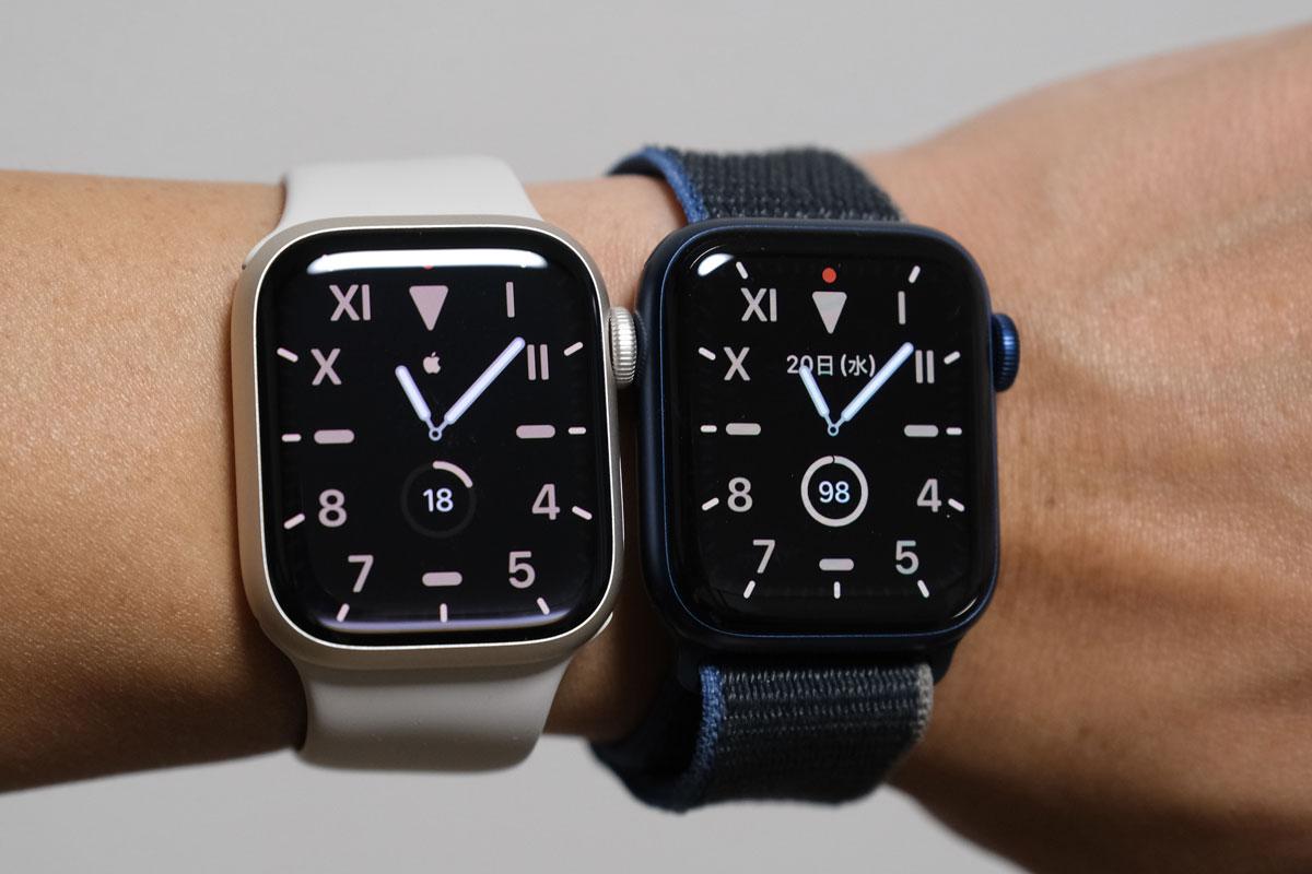 Apple Watch 7 常時表示の明るさが70%向上