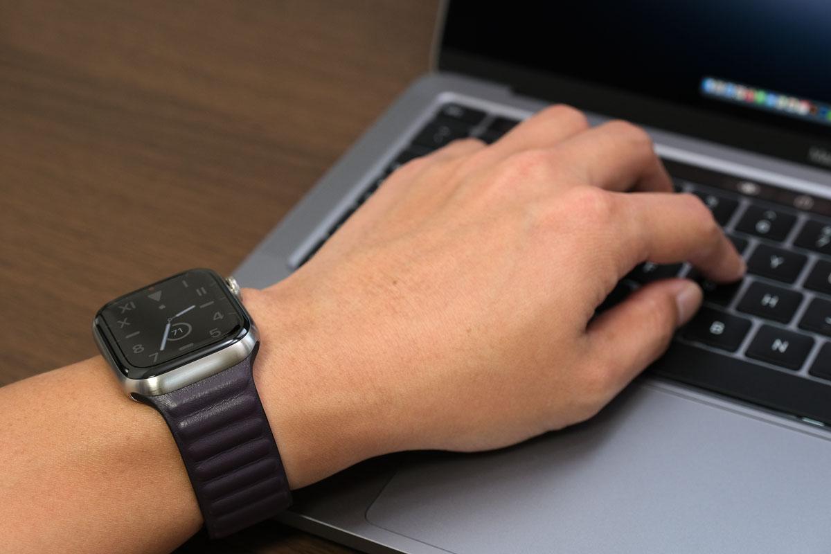 作業中もApple Watchで時間を確認できる
